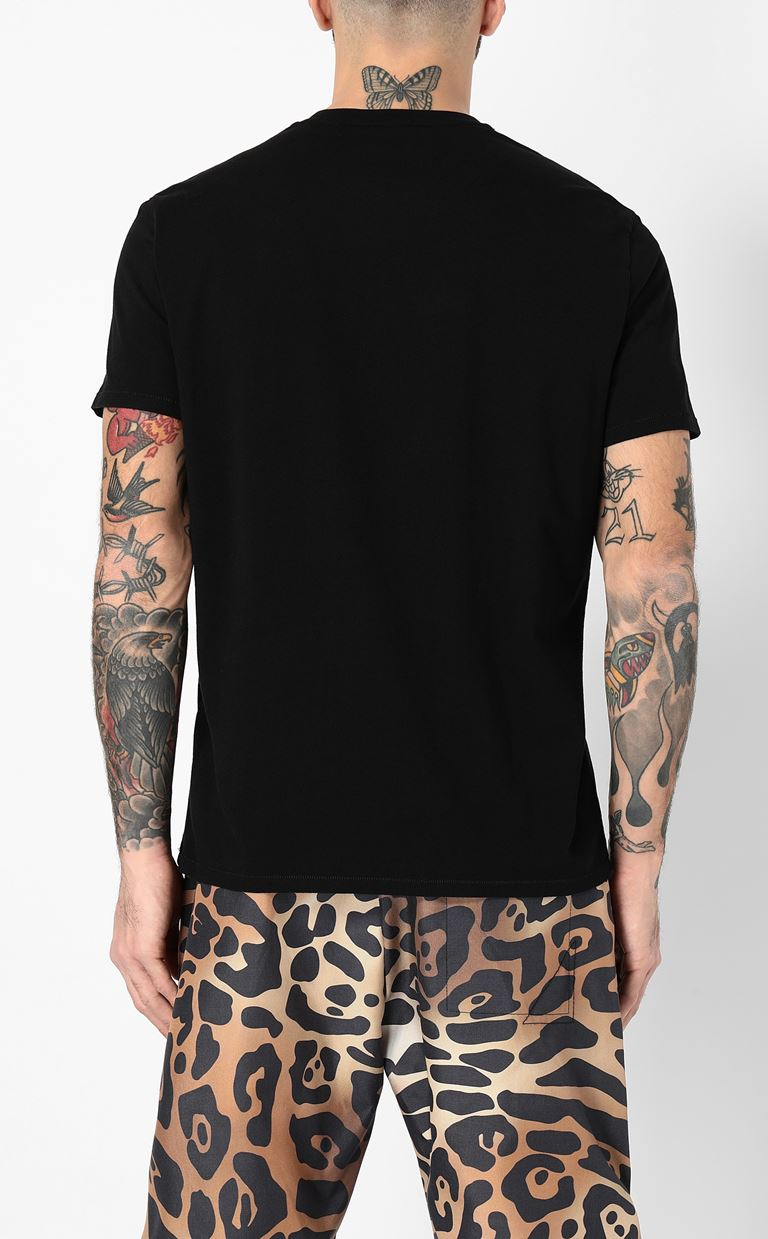 JUST CAVALLI T-shirt with skull print Short sleeve t-shirt Man a