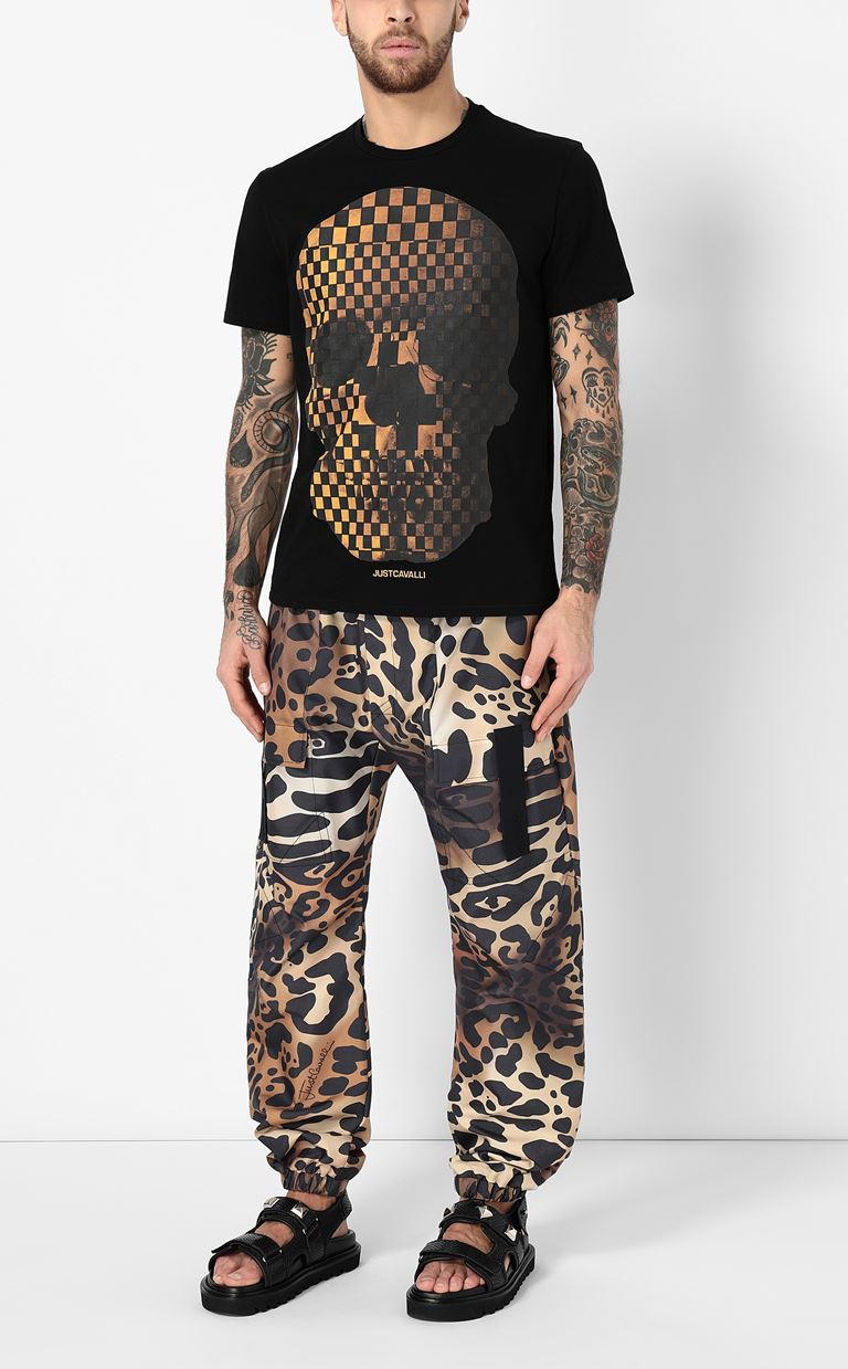 JUST CAVALLI T-shirt with skull print Short sleeve t-shirt Man d