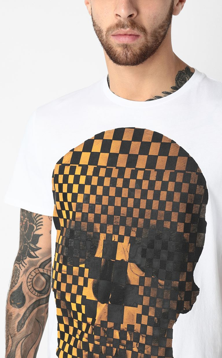 JUST CAVALLI T-shirt with skull print Short sleeve t-shirt Man e