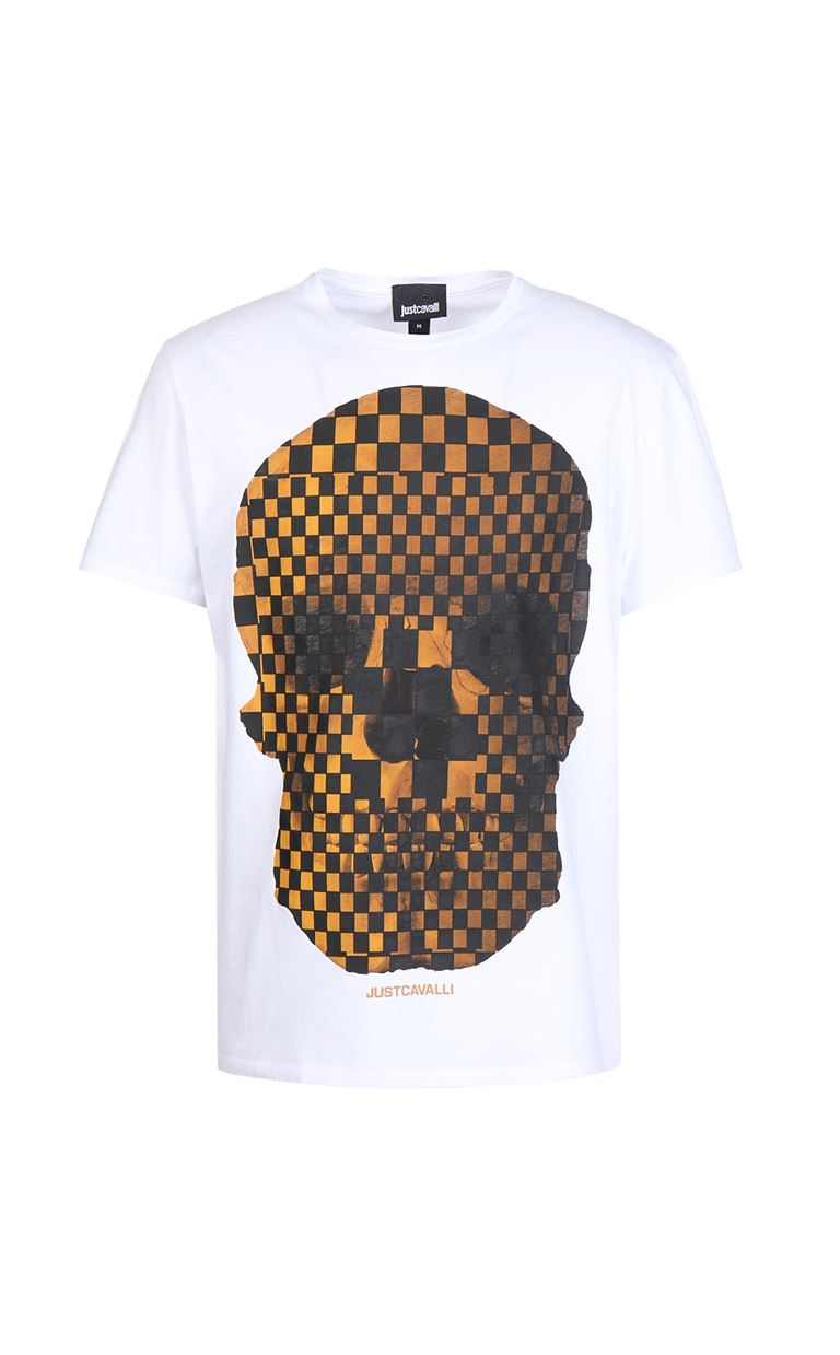 JUST CAVALLI T-shirt with skull print Short sleeve t-shirt Man f