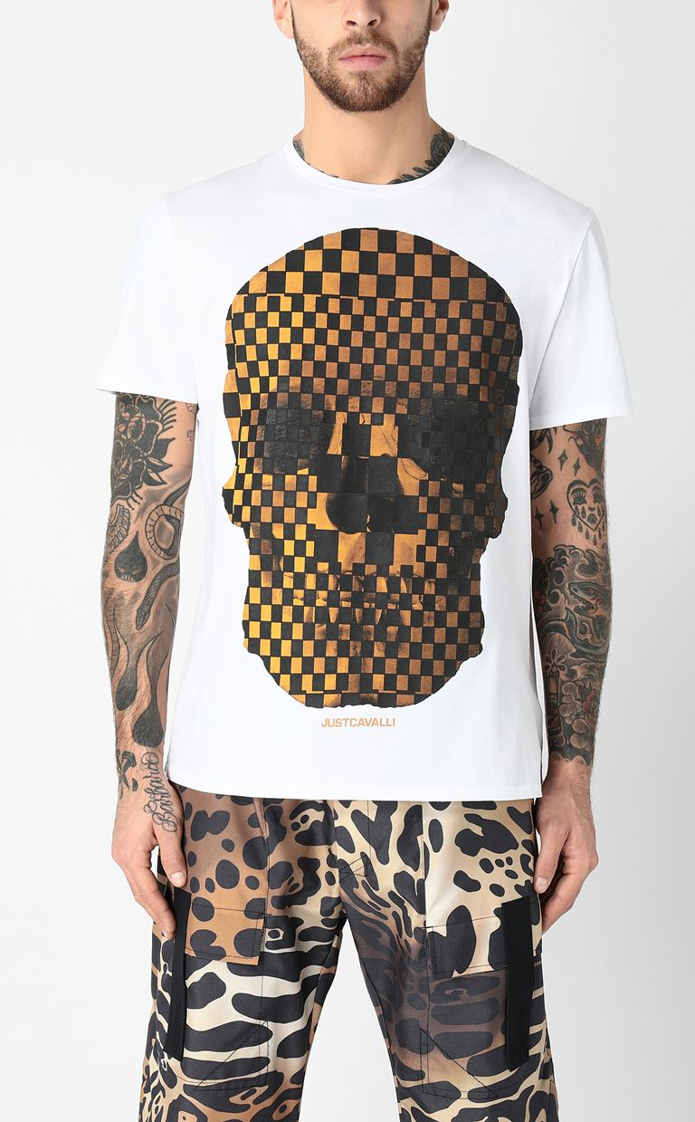 JUST CAVALLI T-shirt with skull print Short sleeve t-shirt Man r