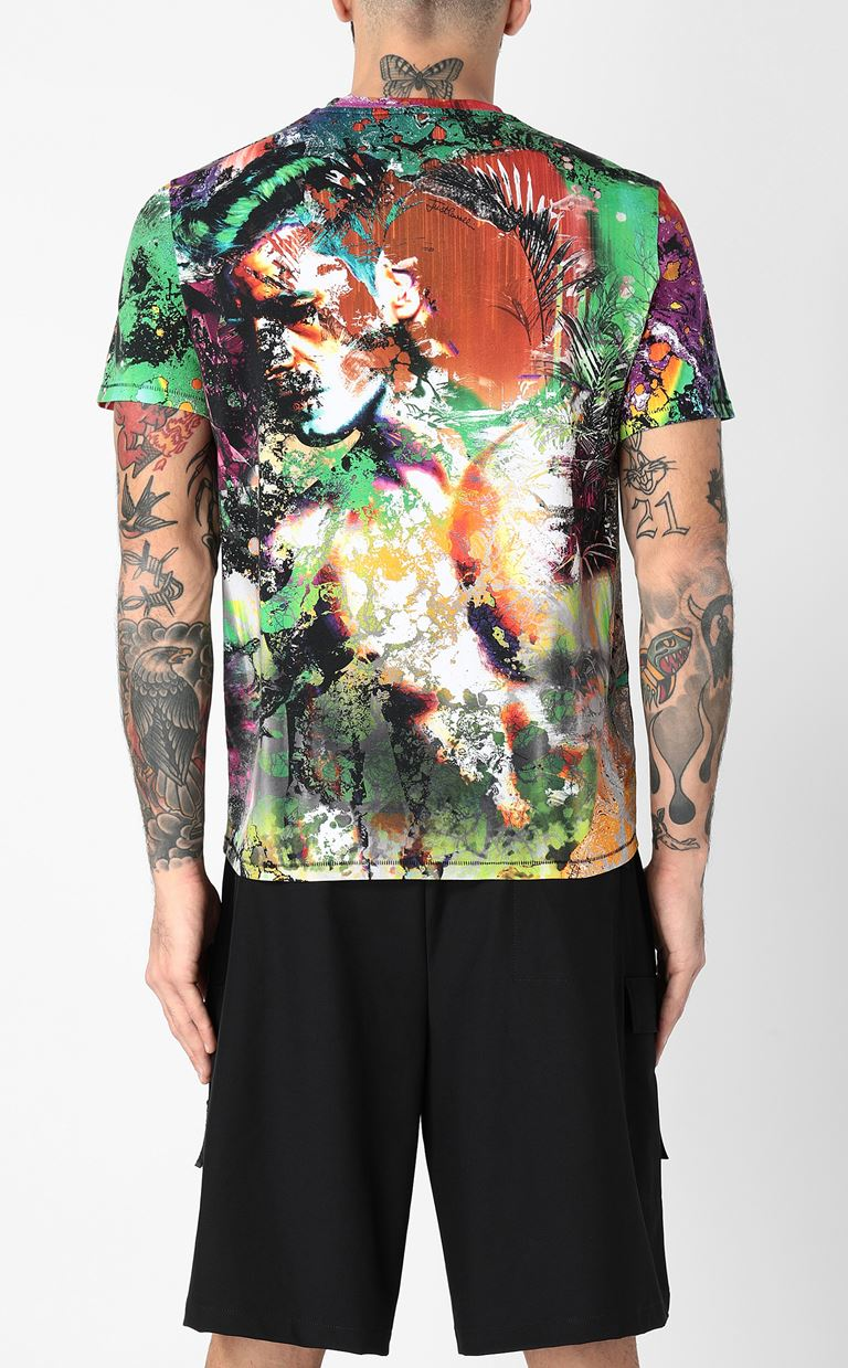 JUST CAVALLI T-shirt with print design Short sleeve t-shirt Man a