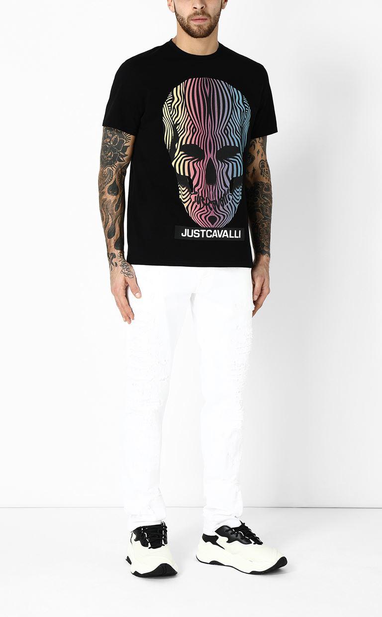 JUST CAVALLI T-shirt with skull print Short sleeve t-shirt Man d
