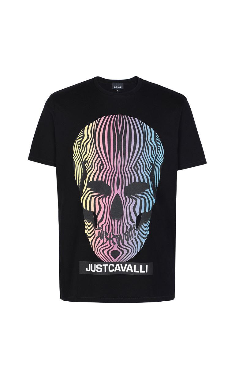 JUST CAVALLI T-shirt with skull print Short sleeve t-shirt Man f