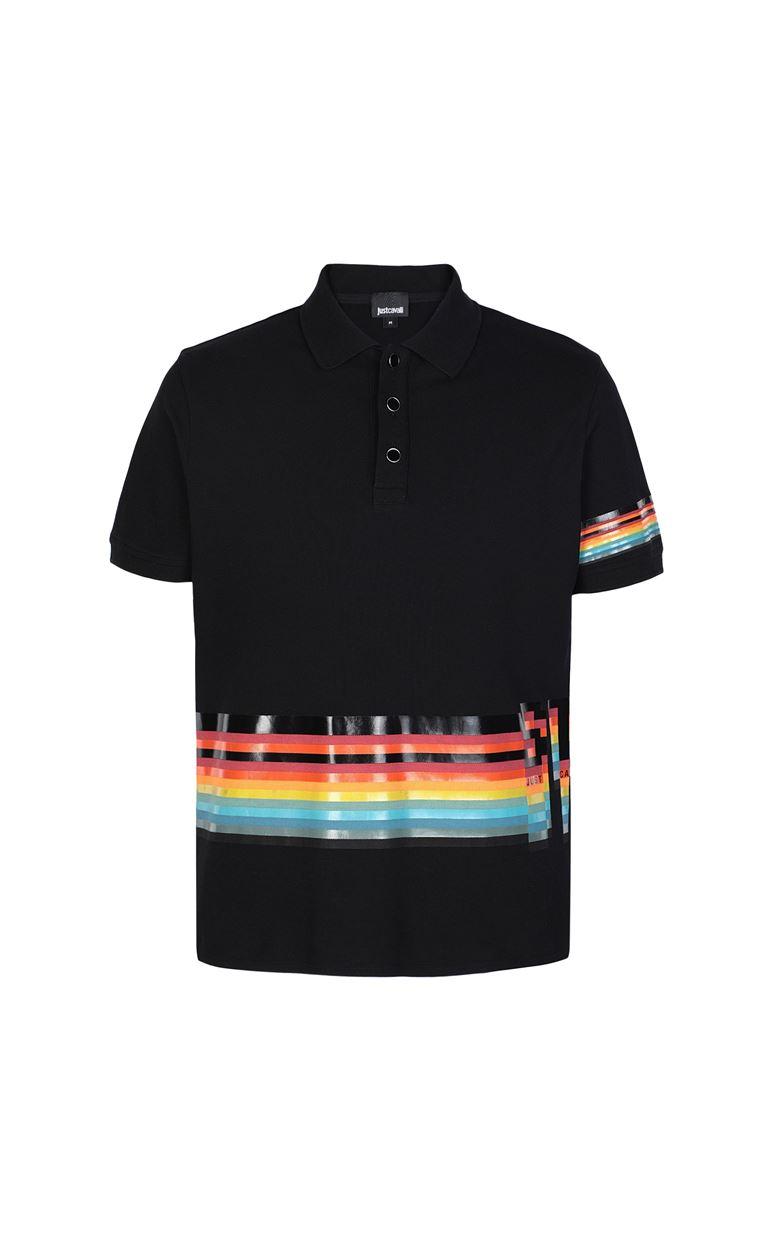 JUST CAVALLI Polo shirt with print detail Polo shirt Man f