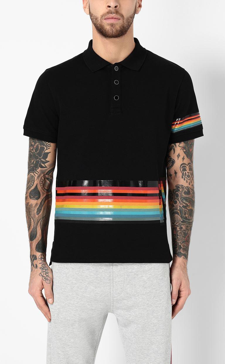 JUST CAVALLI Polo shirt with print detail Polo shirt Man r