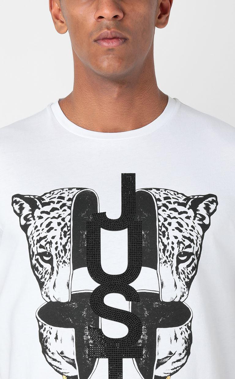 JUST CAVALLI T-shirt with print design Short sleeve t-shirt Man e