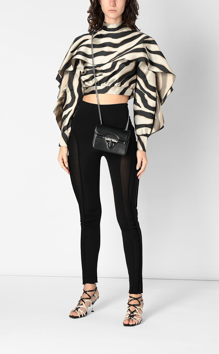 JUST CAVALLI Top with zebra-stripe print Top Woman d