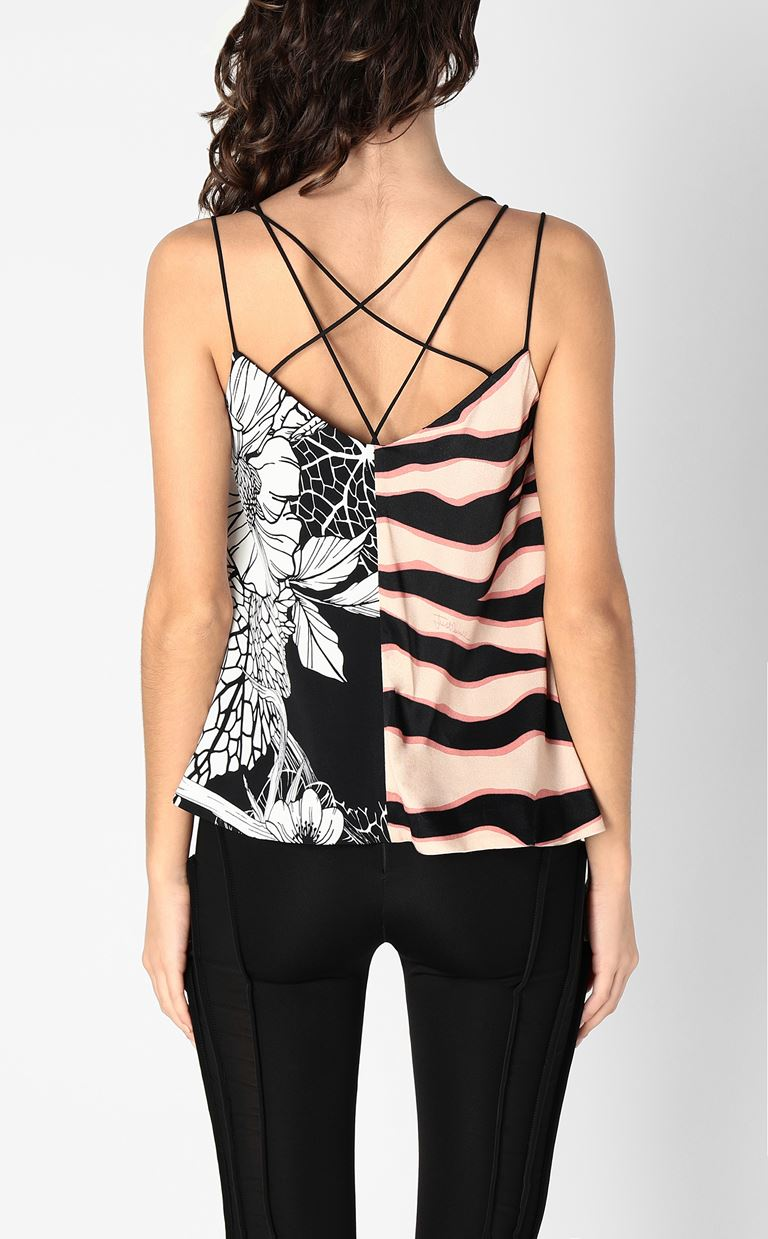 JUST CAVALLI Top with print design Top Woman a