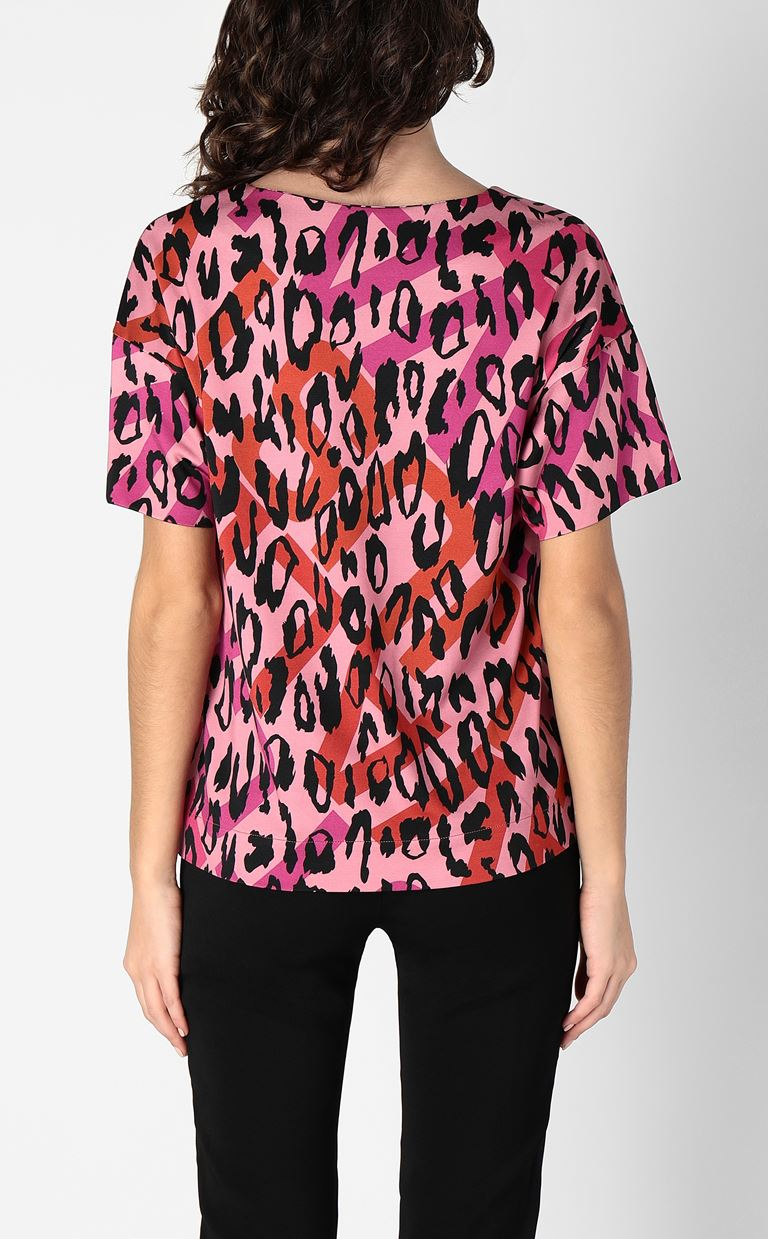 JUST CAVALLI Top with leopard-spot print Top Woman a