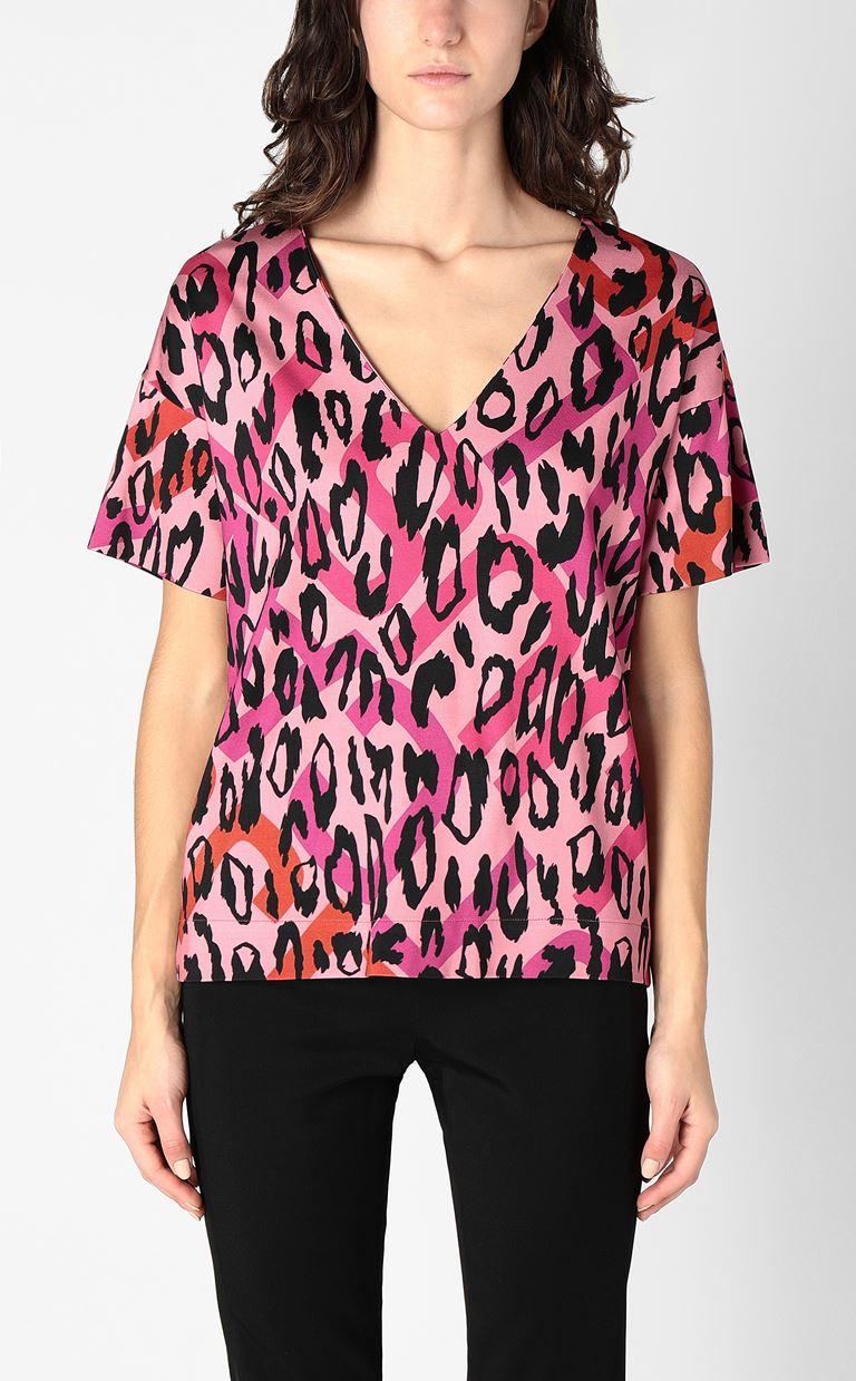 JUST CAVALLI Top with leopard-spot print Top Woman r