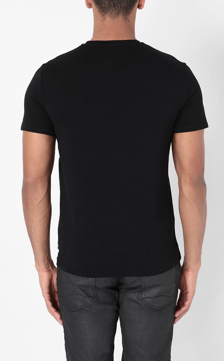 JUST CAVALLI T-shirt with Leo print Short sleeve t-shirt Man a