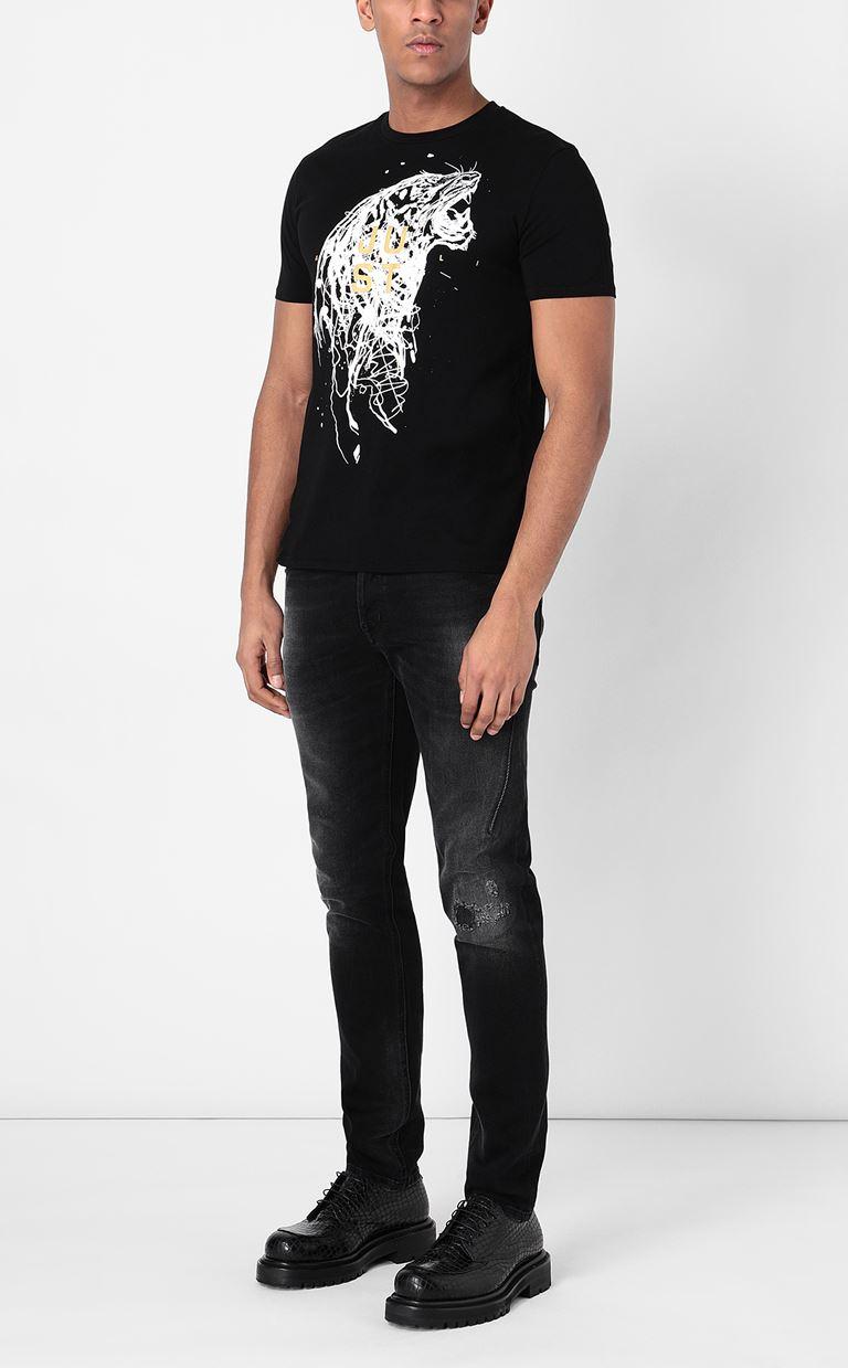 JUST CAVALLI T-shirt with Tiger print Short sleeve t-shirt Man d