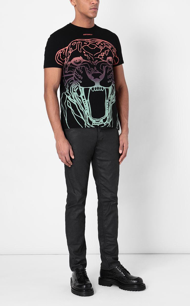 JUST CAVALLI T-shirt with print design Short sleeve t-shirt Man d