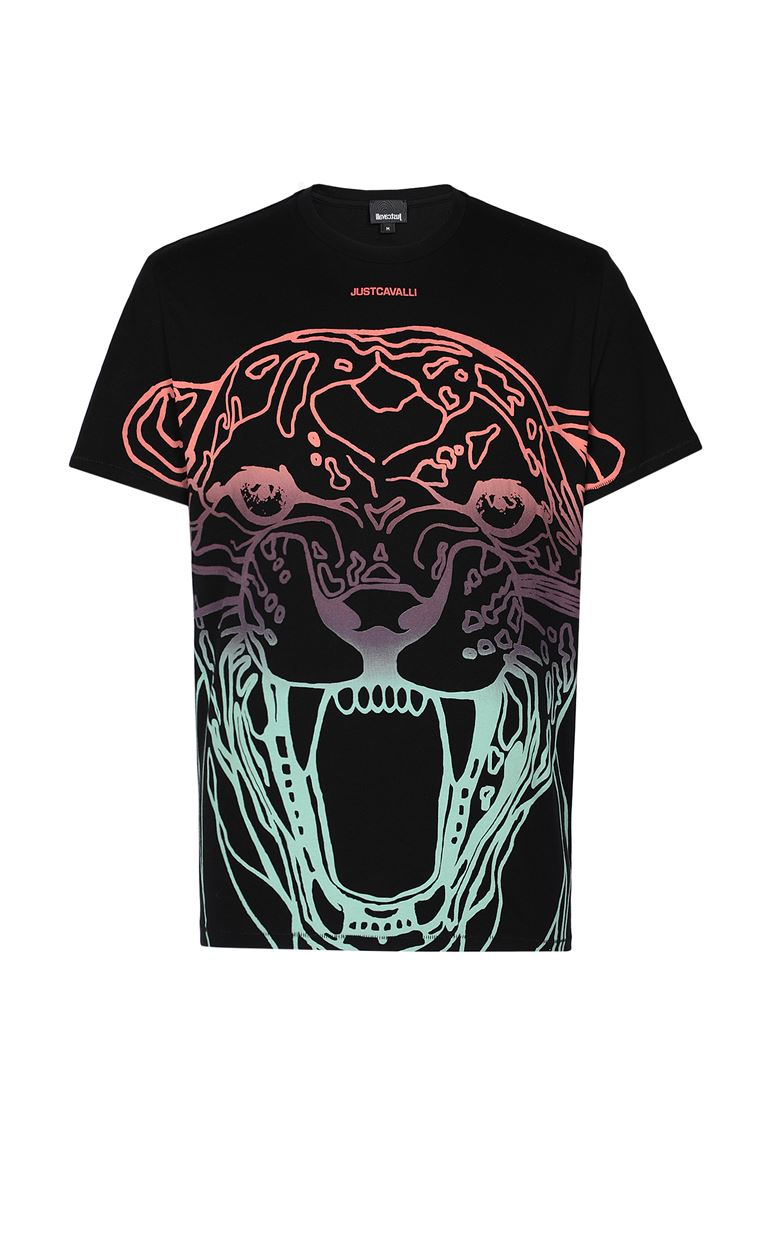 JUST CAVALLI T-shirt with print design Short sleeve t-shirt Man f