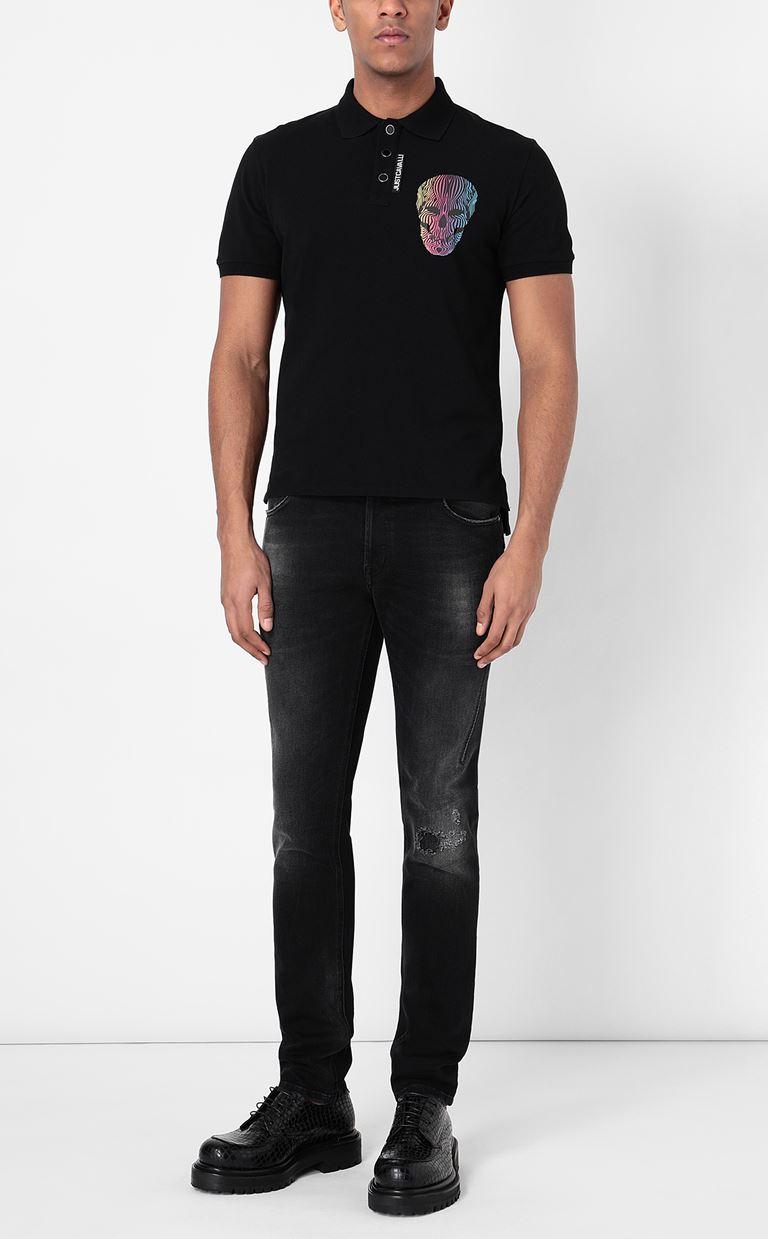 JUST CAVALLI Polo shirt with print detail Polo shirt Man d
