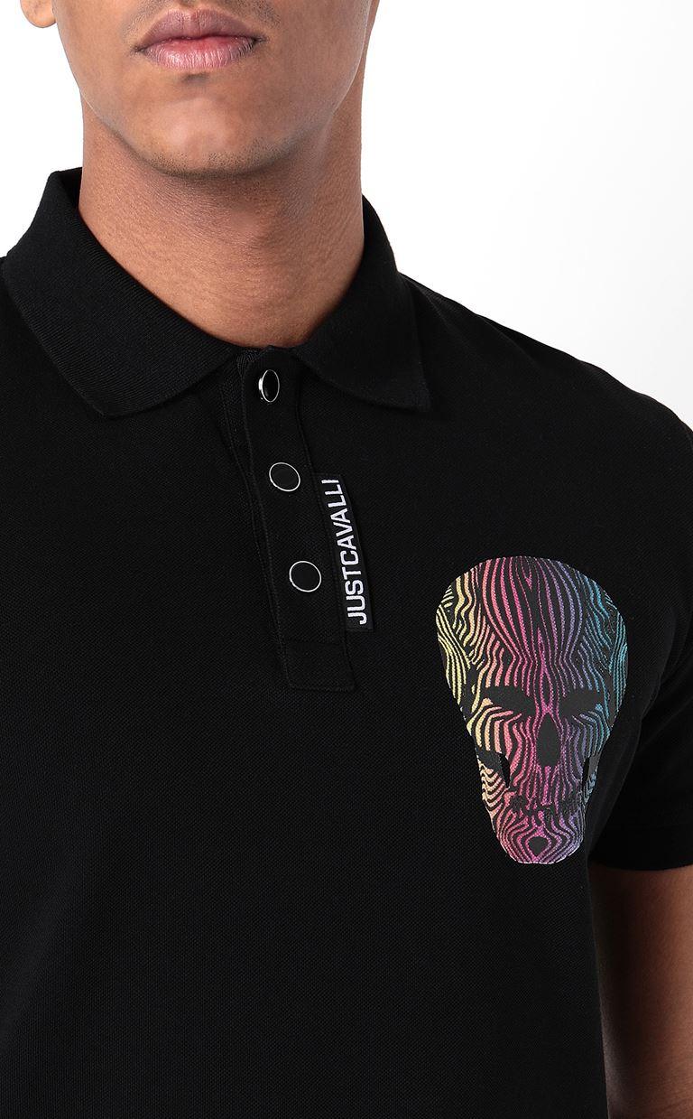 JUST CAVALLI Polo shirt with print detail Polo shirt Man e