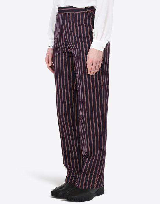 MAISON MARGIELA Striped cotton trousers Casual pants D r