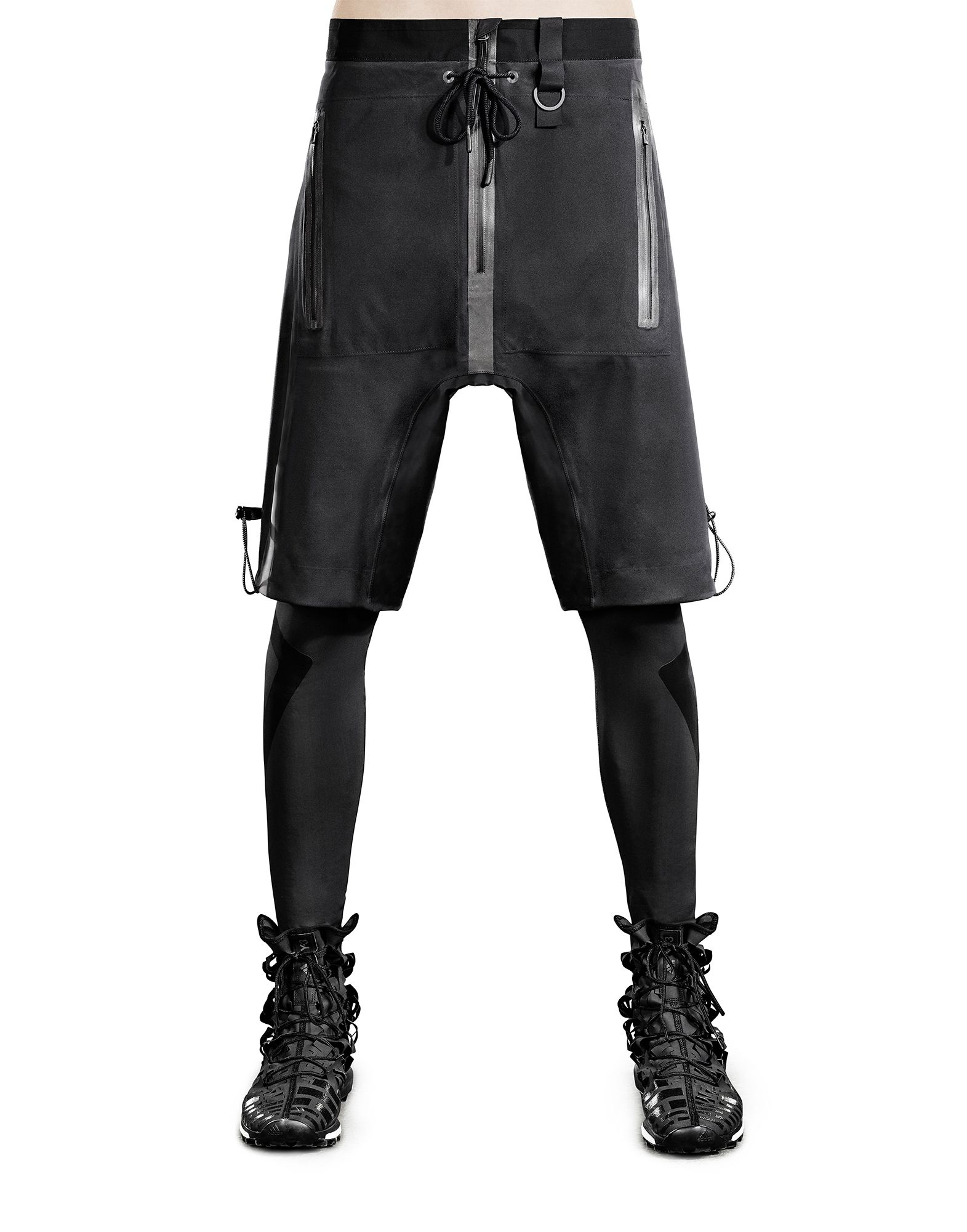 Y-3 SPORT RAIN ZIP SHORT PANTS man Y-3 adidas