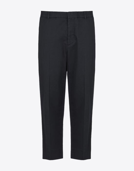 MAISON MARGIELA 1 Cropped cotton-blend trousers Casual pants D f
