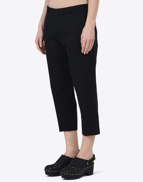 MAISON MARGIELA 1 Cropped cotton-blend trousers Casual pants D r