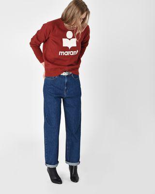 ISABEL MARANT ÉTOILE JEANS Woman Corby Oversize boyfriend fit jeans r