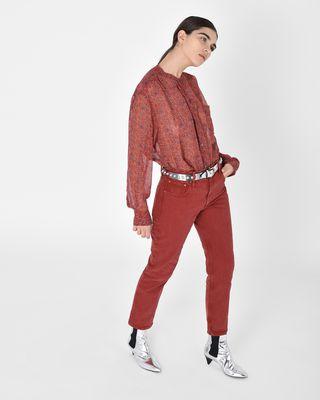 ISABEL MARANT ÉTOILE JEAN D Fliff Girlfriend fit colored jeans r