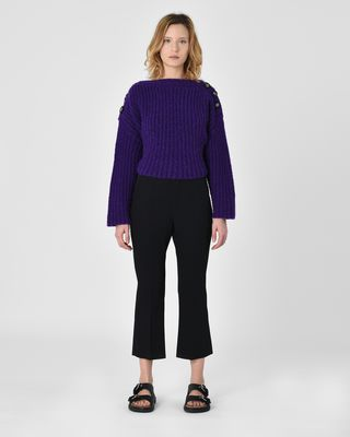 Maroan Flared wool trousers