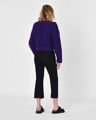 ISABEL MARANT PANT Woman Maroan Flared wool pants r