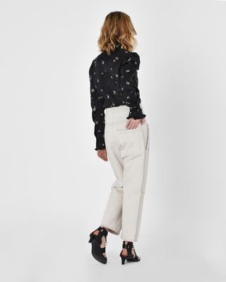 ISABEL MARANT JEAN D Paden Workwear inspired denim pants r