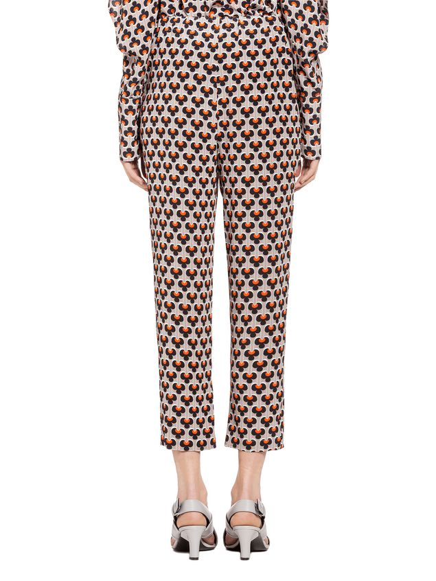Marni Pants in silk Portrait Woman