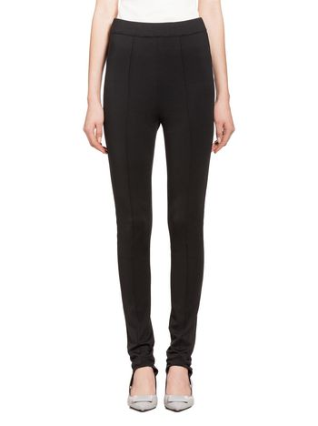 Marni Pants in black jersey with stirrup Woman