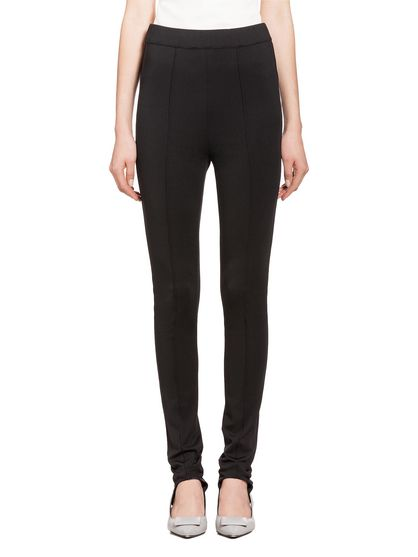 a7e8c81280 MARNI Trouser Woman Stirrup pants in black jersey f