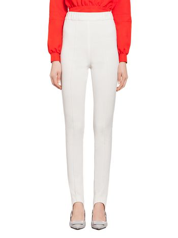 Marni Pants in white jersey with stirrup Woman