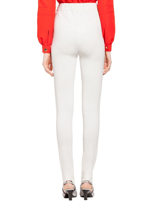 662a328300a8d9 Marni Stirrup pants in white jersey Woman