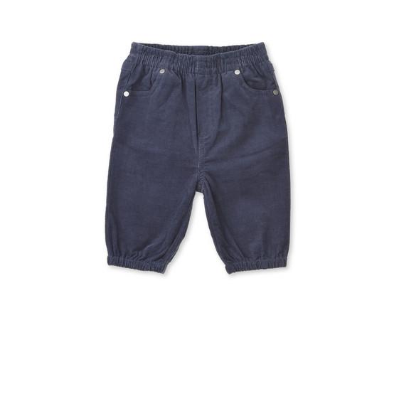 Pantalon Pipkin en velours côtelé bleu