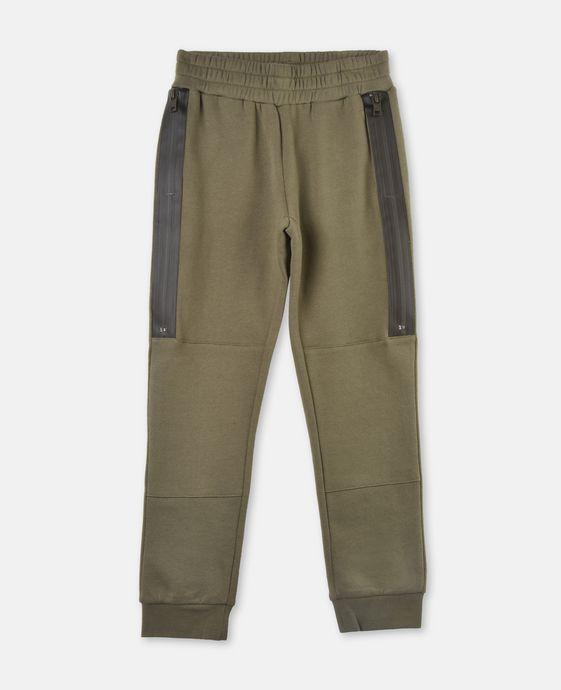 Spike Khaki Zipper Pants