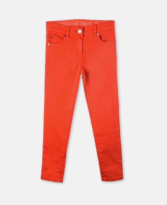 Nina 红色牛仔裤
