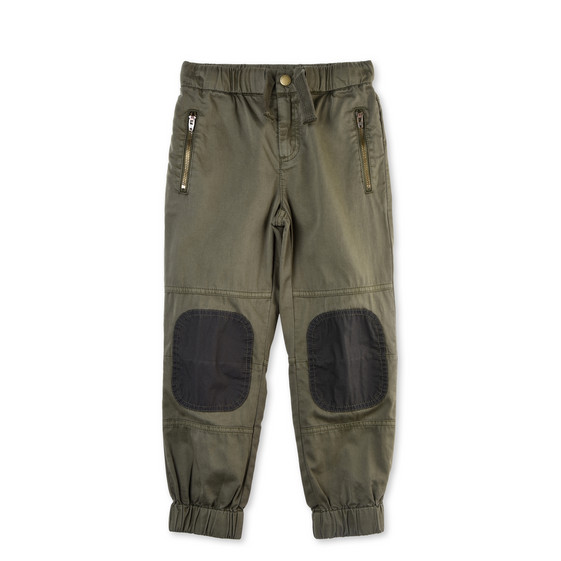 Almond Khaki Patch Trousers