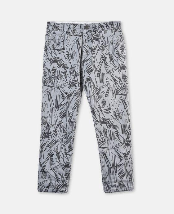 Lohan 灰色涂鸦牛仔裤