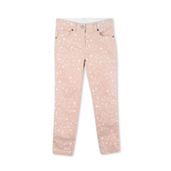 Nina Pink Corduroy Planet Print Jeans