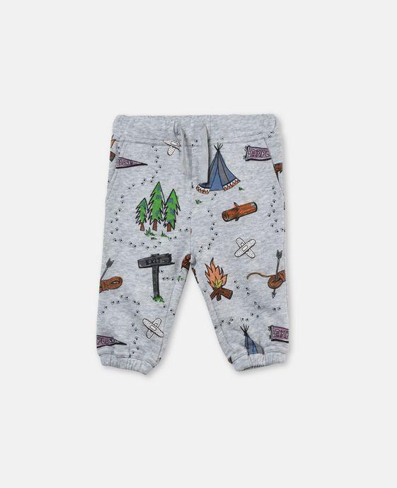 Loopie Grey Explorer Print Pants