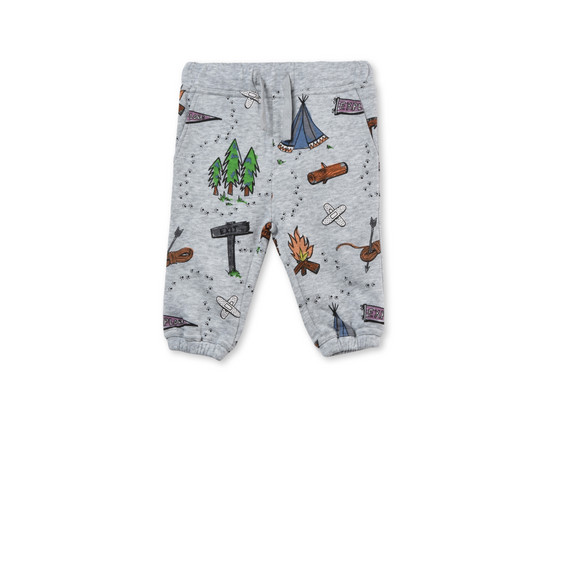 Loopie Grey Explorer Print Pants