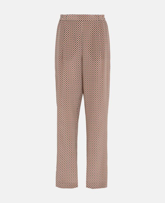 Cicely Tie Print Silk Pants