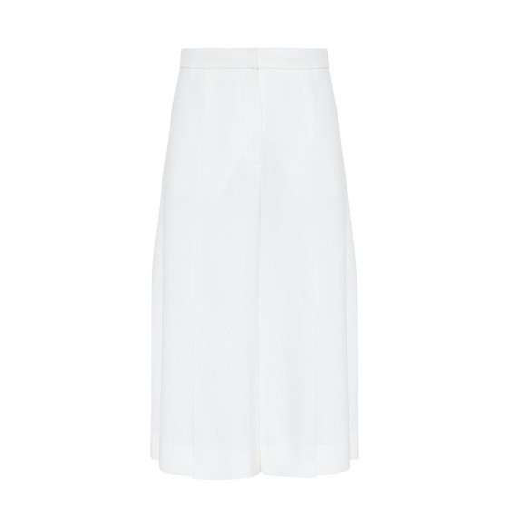 Cream Cropped Olivier Trousers