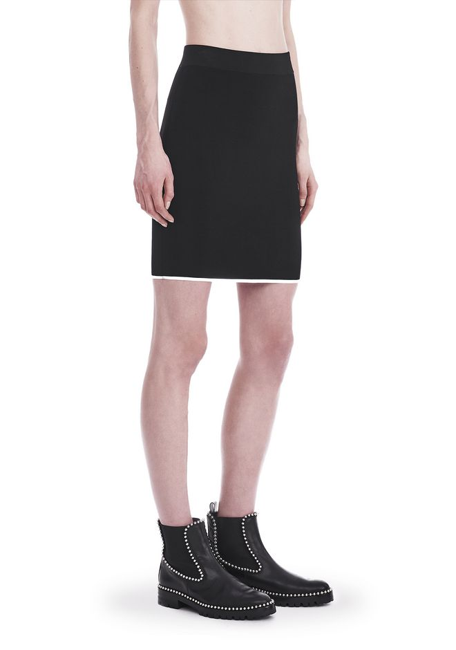 T by ALEXANDER WANG JUPES Femme KNIT PENCIL SKIRT WITH TIPPING