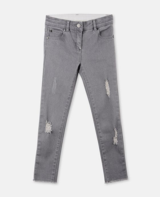 Nina Gray Distressed Jeans