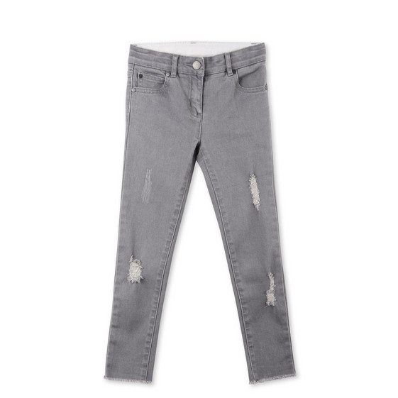Nina Grey Distressed Jeans