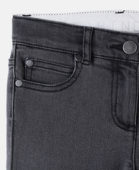 Jet Washed Black Flare Jeans