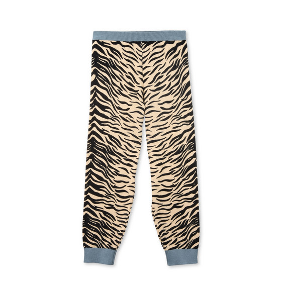 Lillian Tiger Print Knit Trousers